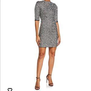 Alce + Olivia Inka Sequin Mock-Neck Mini Dress